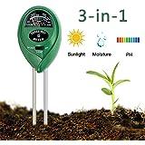 Enviroment Soil Meter, 3-in-1 Soil Test Kit for Rapitest Plant PH Moisture Meter Light with Garden Indoor or Outdoor Various Plants Care-No Battery Needed