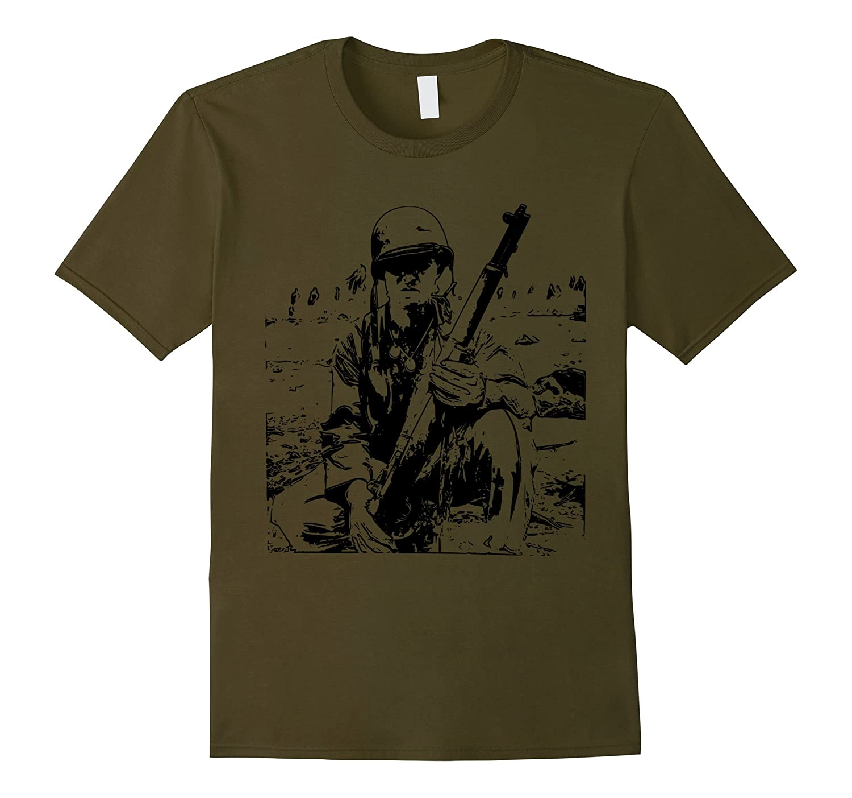 WW2 US Soldier with Garand T-Shirt-FL