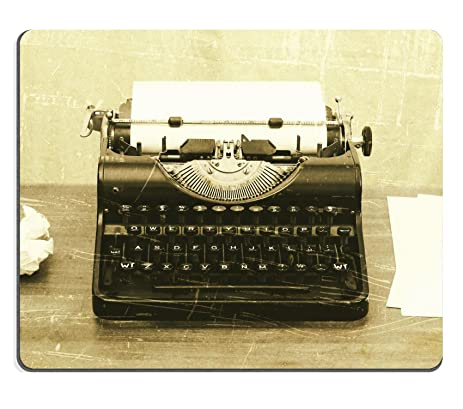 amazon com luxlady mousepad close up of an old typewriter with
