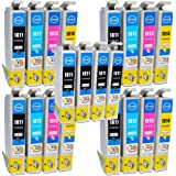 Odyssey Supplies® - compatible ink cartridges for Epson stylus photo printers xp30, xp-33, xp102, xp202, xp205, xp212, xp215, xp-225, xp312, xp315, xp412, xp415, xp305, xp-325, xp405, xp-30, xp-102, xp-202, xp-205, xp-212, xp-215, xp-312, xp-315, xp-322, xp-412, xp-415, xp-422, xp-305, xp-405, 8 x black, 4 x cyan, 4 x magenta, 4 x yellow