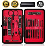 Manicura Set, Uplayteck 16 en 1 Manicura y Pedicura Kit Cuidado Personal Acero Inoxidable Nail Clippers Scissors…