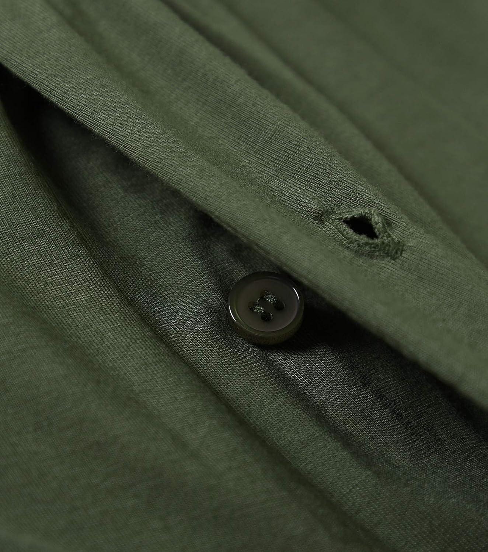 Latuza Mens Summer Raglan Shirt and Shorts Pajamas Set with Pockets