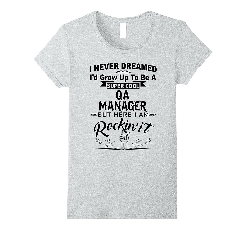 Womens Super Manager Rockin Funny-Awarplus