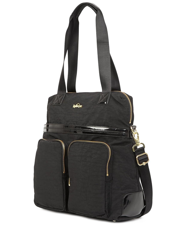 24c9ae9225 Amazon.com: Kipling Camryn Solid Laptop Handbag, Black Patent Combo:  Clothing
