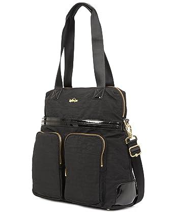 2bb23ec7c Amazon.com: Kipling Camryn Solid Laptop Handbag, Black Patent Combo:  Clothing