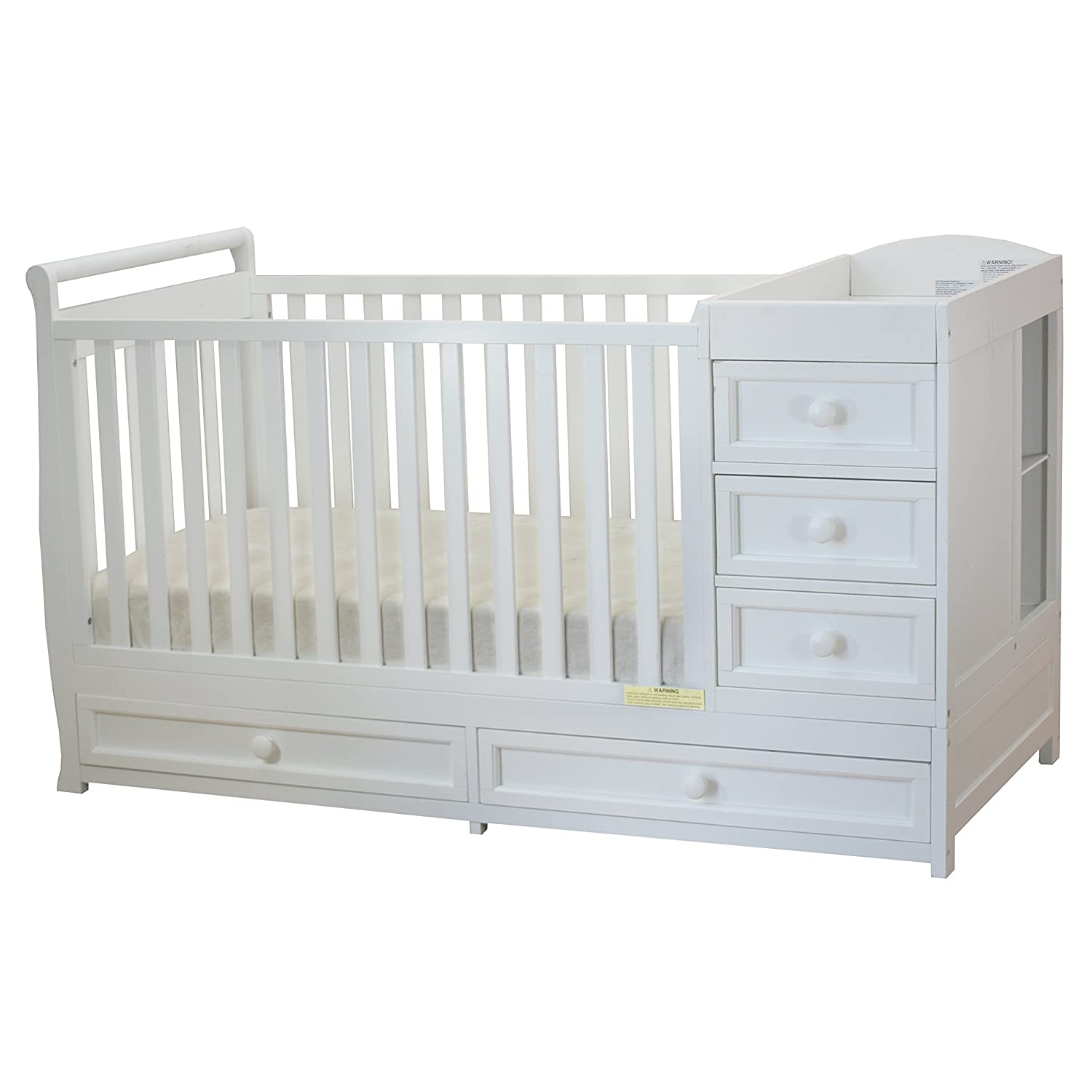 Baby Toddler Infant Cot Crib TOP CHANGER Diaper Nappy Mat Table Pine Wood White