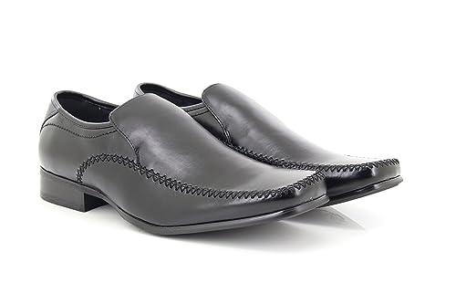 Goor - Mocasines para hombre, color negro, talla 39.5