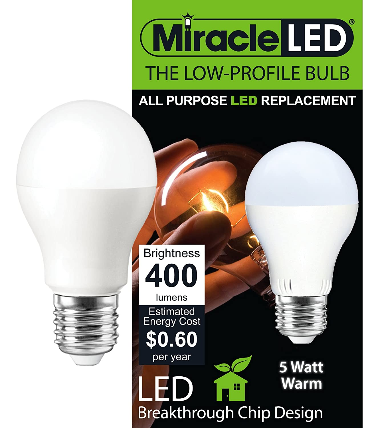 Miracle LED 605007 General Purpose Bulb Low Profile 400 Lumen Medium Base Soft White - Appliance Led - Amazon.com  sc 1 st  Amazon.com & Miracle LED 605007 General Purpose Bulb Low Profile 400 Lumen ... azcodes.com