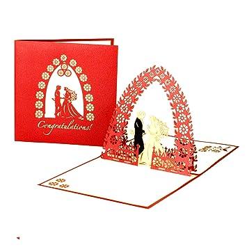 3d Hochzeitskarte Weddding Card Congratulations Pop Up