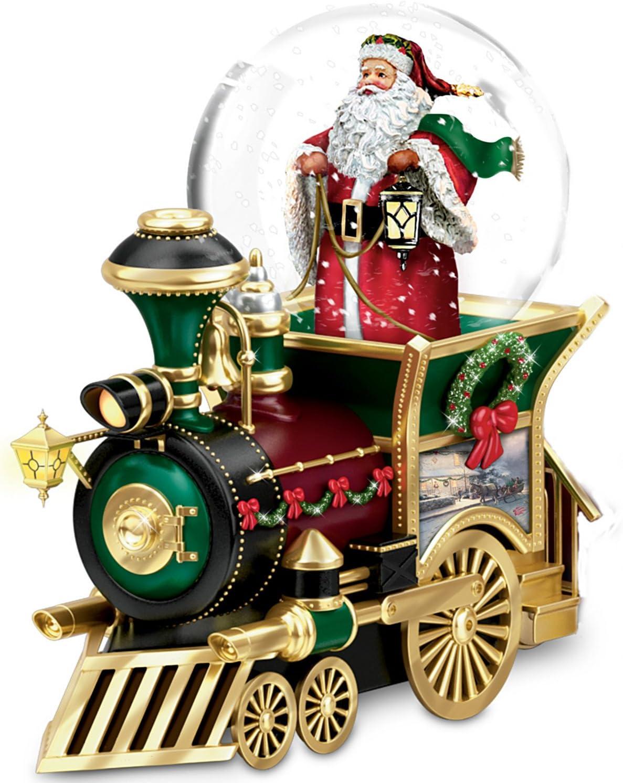 Thomas Kinkade Santa Claus Is Comin' To Town Musical Snowglobe by The Bradford Exchange