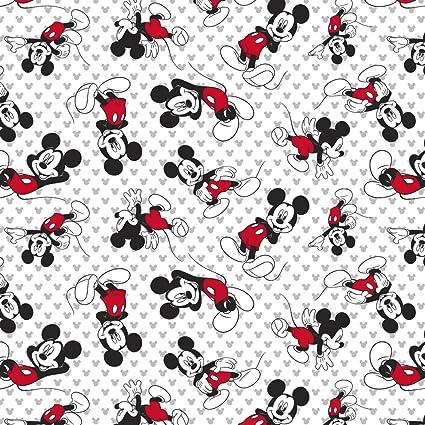 d8274716d90 JERSEY FABRIC - Mickey Mouse Heads - Jersey Fabric - SCJ05 - 0.5 Metre -  96% Premium Cotton 4% Spandex Stretch Jersey Knit Fabric: Amazon.co.uk:  Kitchen & ...