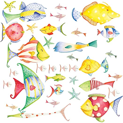 RoomMates Repositionable Childrens Wall Stickers Sea Creatures Part 73