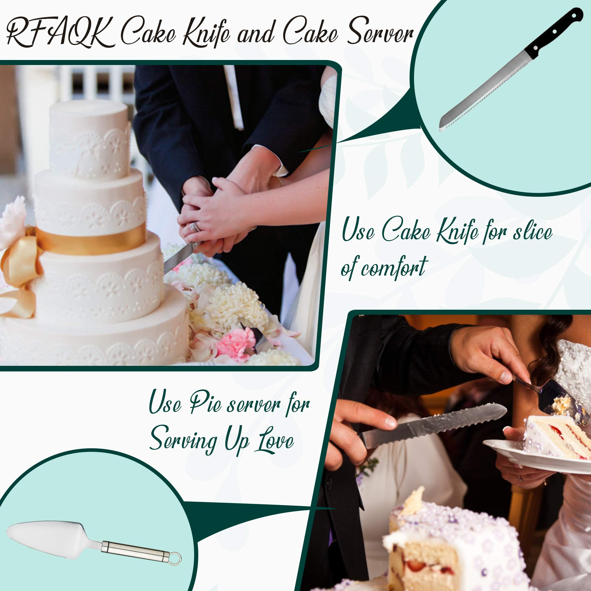 174 PCs Cake Decorating Supplies Kit for Beginners-1 Turntable stand- Cake server & knife set-48 Numbered Easy to use icing tips with pattern chart and E.Book-7 Russian Piping nozzles -2 Spatulas by RFAQK (Image #6)