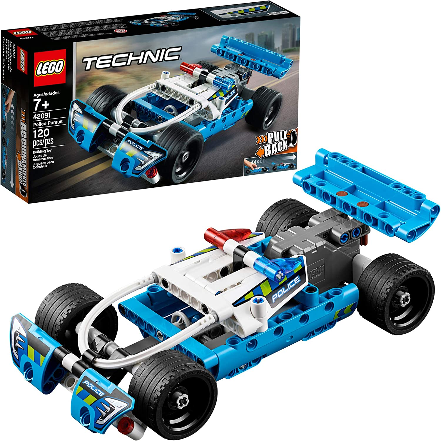 LEGO 42091 Technic Police Pursuit Set with Pullback Motor