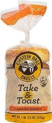 Einstein Bros. Bagels, Take & Toast, Asiago, 18.5 oz (5 ct)