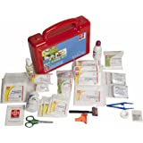 FIRST AID PET CARE KIT - ST JOHNS FIRST AID - PLASTIC BOX MEDIUM HANDY - RED - 67 COMPONENTS - SJF PK
