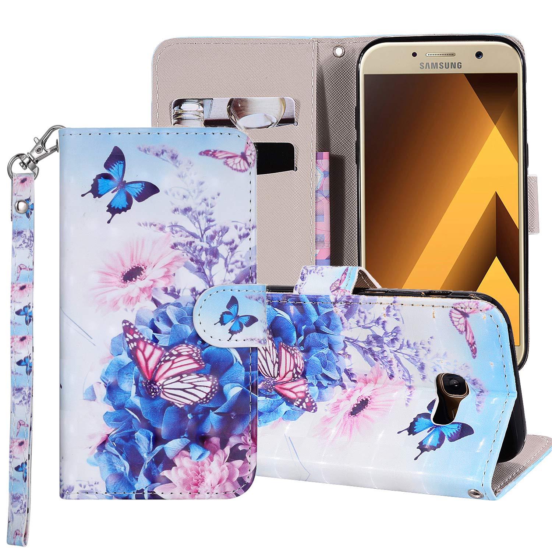Coque pour Samsung Galaxy A3 2017 Smart Silicone PU Bumper Unique Design Souple PU Soft Cover Effacer Clair transparent Etui Housse Case (+Outdoor boussole trousseau) R1 (3)
