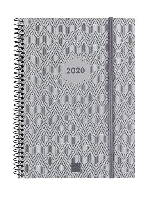 Amazon.com : Finocam - Agenda 2020 Week View Vertical Spiral ...