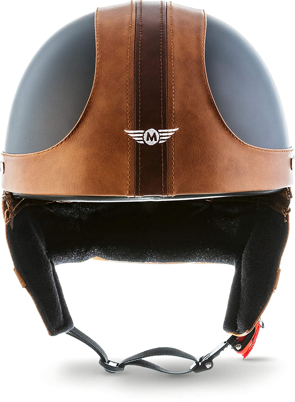 "59-60cm MOTOHelmets D22 /""Leather Brown/"" /· Brain-Cap /· Halbschale Jet-Helm Motorrad-Helm Bobber /· Fiberglas Schnellverschluss SlimShell Tasche L"