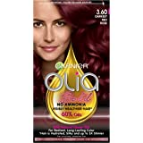 Garnier Olia Ammonia-Free Brilliant Color Oil-Rich Permanent Hair Color, 3.60 Darkest Red Rose (Pack of 1) Red Hair Dye…