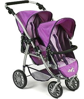 Bayer Chic 2000 nbsp;689 28 Silla infantil doble Tandem Buggy Vario, purpur Checker