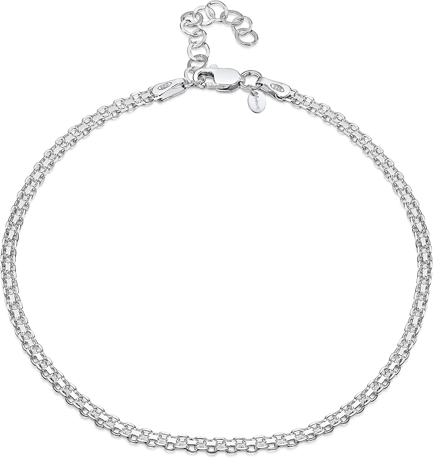 Jewelry Chain Anklets Sterling Silver Singapore with 1in ext Anklet