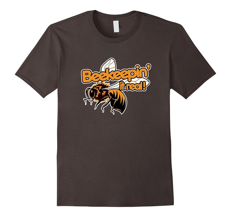 Beekeeping shirt beekeeping it real funny t-shirt with bee-Art