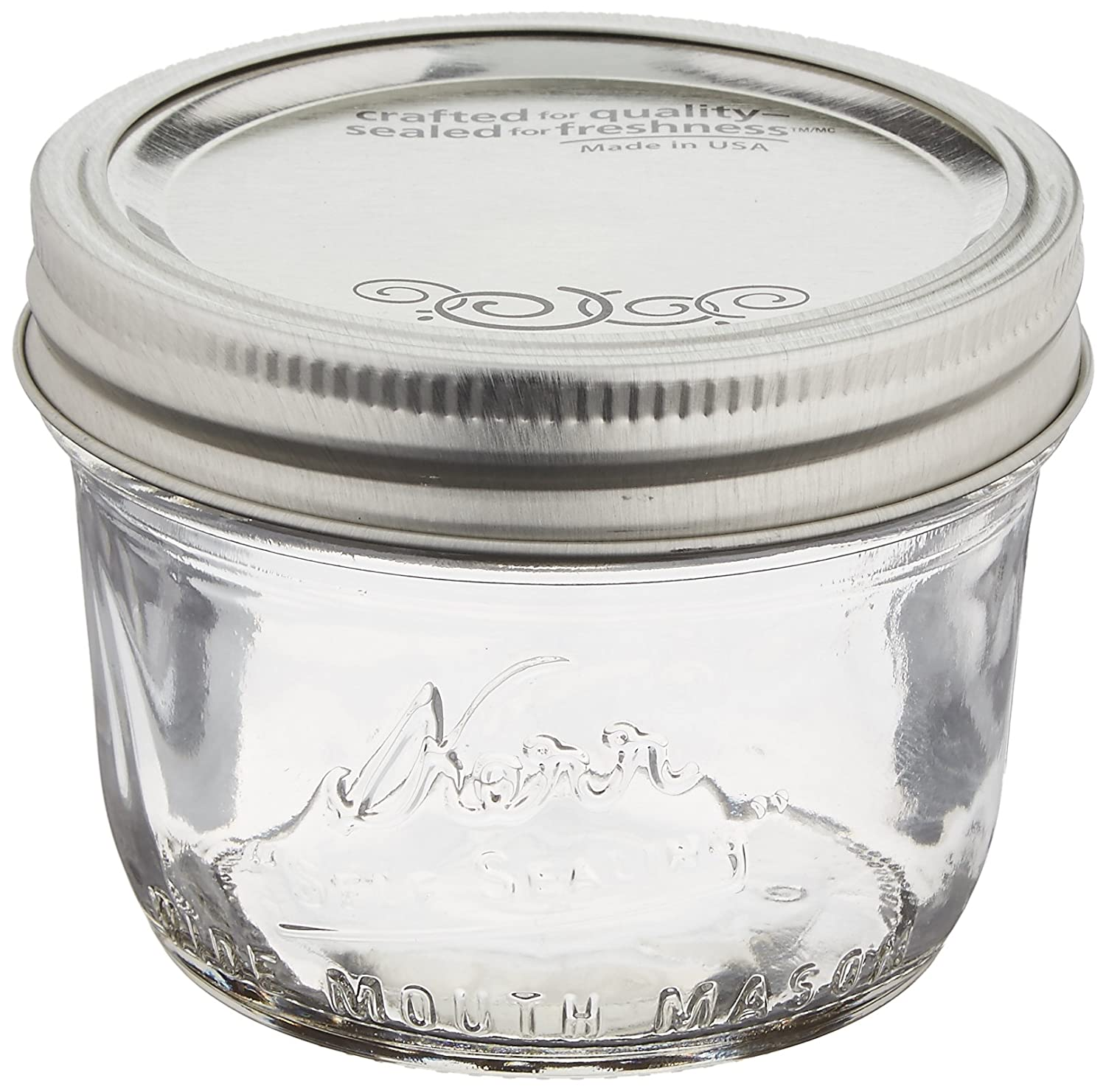 Jarden Home Brands 12Pk 1/2Pt wide Mouth Jar Canning Jars