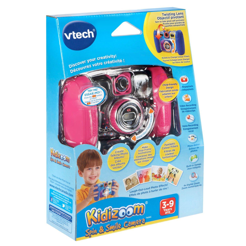 VTech Kidizoom Spin and Smile Camera, Violet Pink