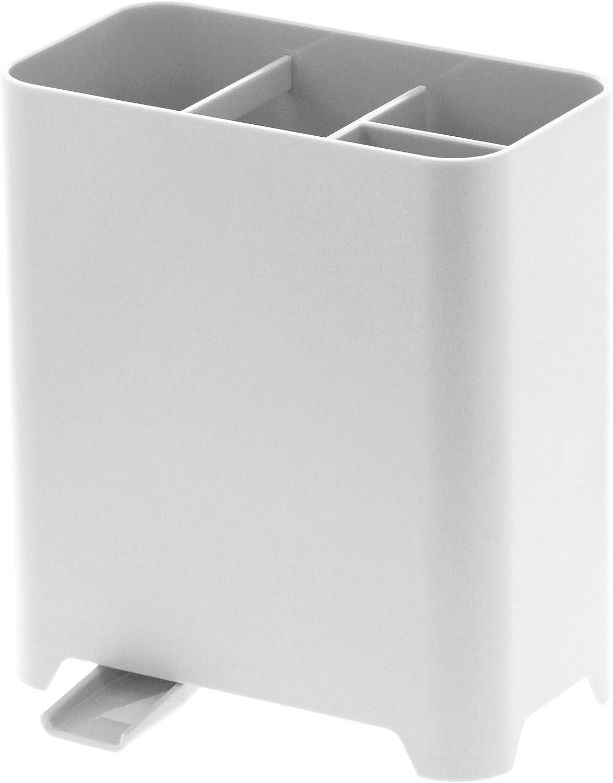 Yamazaki Kitchen Utensil Holder with Adjustable Sink Drain, Premium Vertical Drying and Storage Kitchenware Caddy, Modern Japanese Design