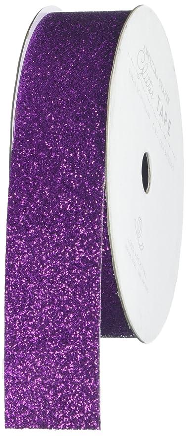 Amazon.com: American Crafts cinta de purpurina, Uva, 7/8 ...