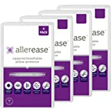 AllerEase Ultimate Protection & Comfort Temperature Balancing Pillow Protector – Zippered, Antimicrobial, Allergist Recommend