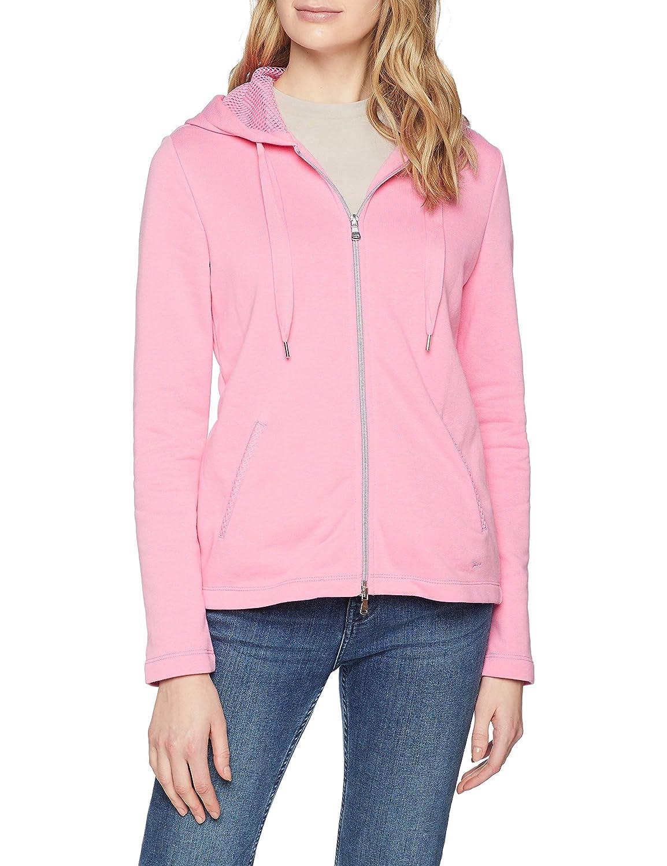 Pink (Pink 47) Large (Manufacturer size  40) Brax Women's Bette Heavy Jersey Kapuzensweatjacke Hoodie
