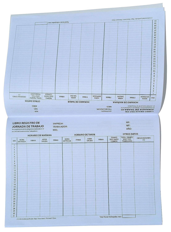 Libro Registro de Jornada