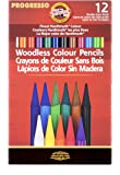 Koh-I-Noor Progresso Woodless Colored 12-Pencil Set, Assorted Colored Pencils (FA8756.12)