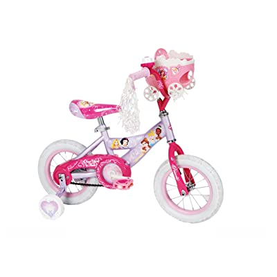 Huffy Girl's Disney Princess Bike, Soft Pink/Pink, 12-Inch : Childrens Bicycles : Sports & Outdoors