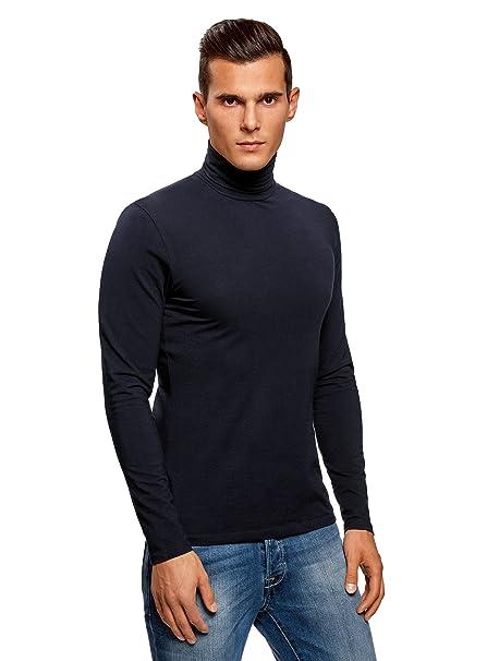 oodji Ultra Hombre Suéter de Cuello Alto Básico Ajustado lgDw5J