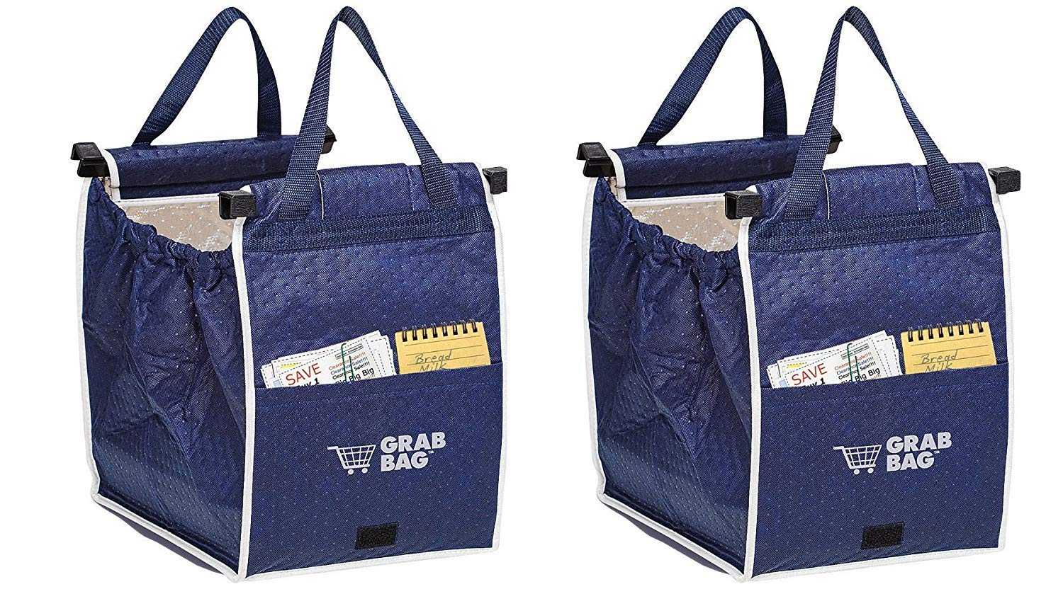 bd298913a Amazon.com: Insulated Reusable Grab Bag Grocery Shopping Tote Holds Up To  40 lbs (3): Kitchen & Dining