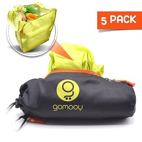GOMOOY Set 5 Bolsas Reutilizables Compra Shopping Bag Carro ...