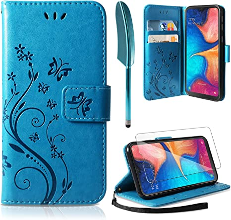 Ivencase Samsung Galaxy A20e Case Samsung Galaxy A20e Wallet Case Pu Leather Wallet With Card Slots Stand Magnetic Clasp Scratchproof Bookstyle Case For Samsung Galaxy A20e Blue Amazon Co Uk Electronics