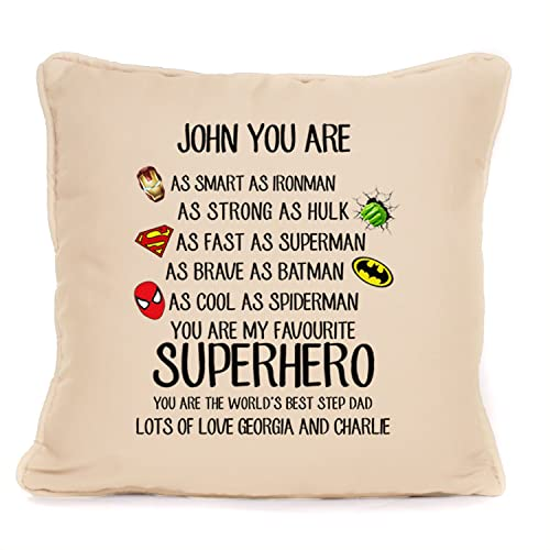 four leaf clover gift shop step dad gift personalised superhero cushion with pad included