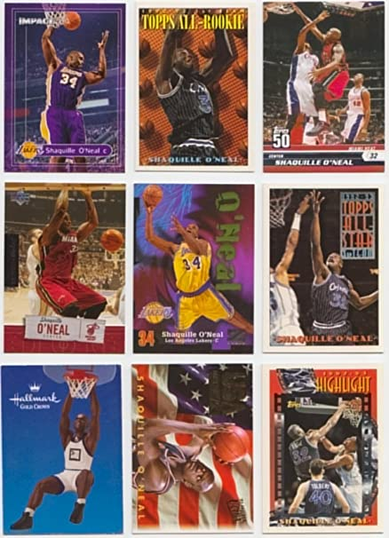 Shaq25 Different Basketball Cards Featuring Shaquille With