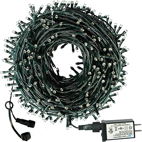 Outdoor Christmas Tree Lights, 300 LED 105ft Fairy String Lights Plug in, UL Certified, Expandable, 8 Modes Safe Xmas Holiday String Lights for Garden,Patio,Wedding,Christma Trees,Parties Warm White