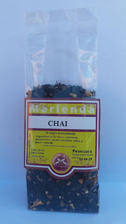 Saboreateycafe Té Negro Chai en Hoja Hebra Granel Infusión Natural 100 Gramos: Amazon.es: Alimentación y bebidas