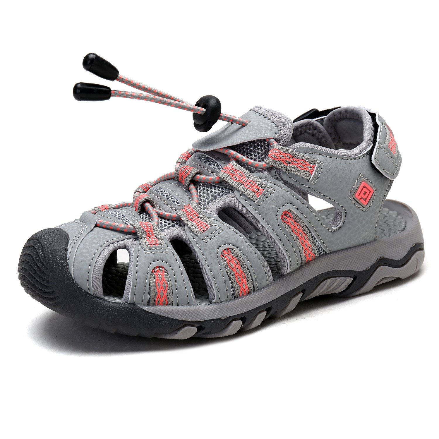 DREAM PAIRS Toddler 160912-K LT.Grey Coral Outdoor Summer Sandals Size 8 M US Toddler