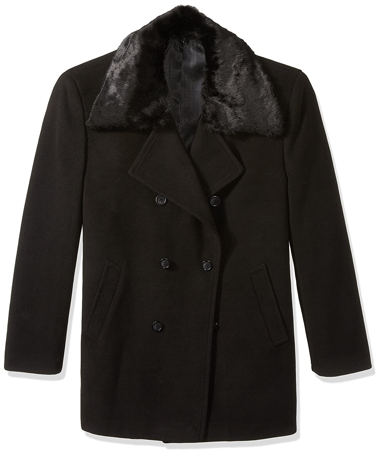 STACY ADAMS Men's Big & Tall Zoro Double Breasted 34 Inch Topcoat 4150-ZORROTCBT