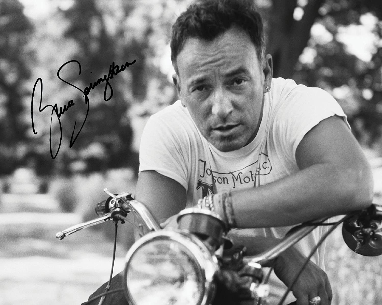 Present Gift Collectible Lab Quality Bruce Springsteen #2  Signed Lab Photo Reprint Photo Display 10x8 Size to Fit 10x8 Inch Frames