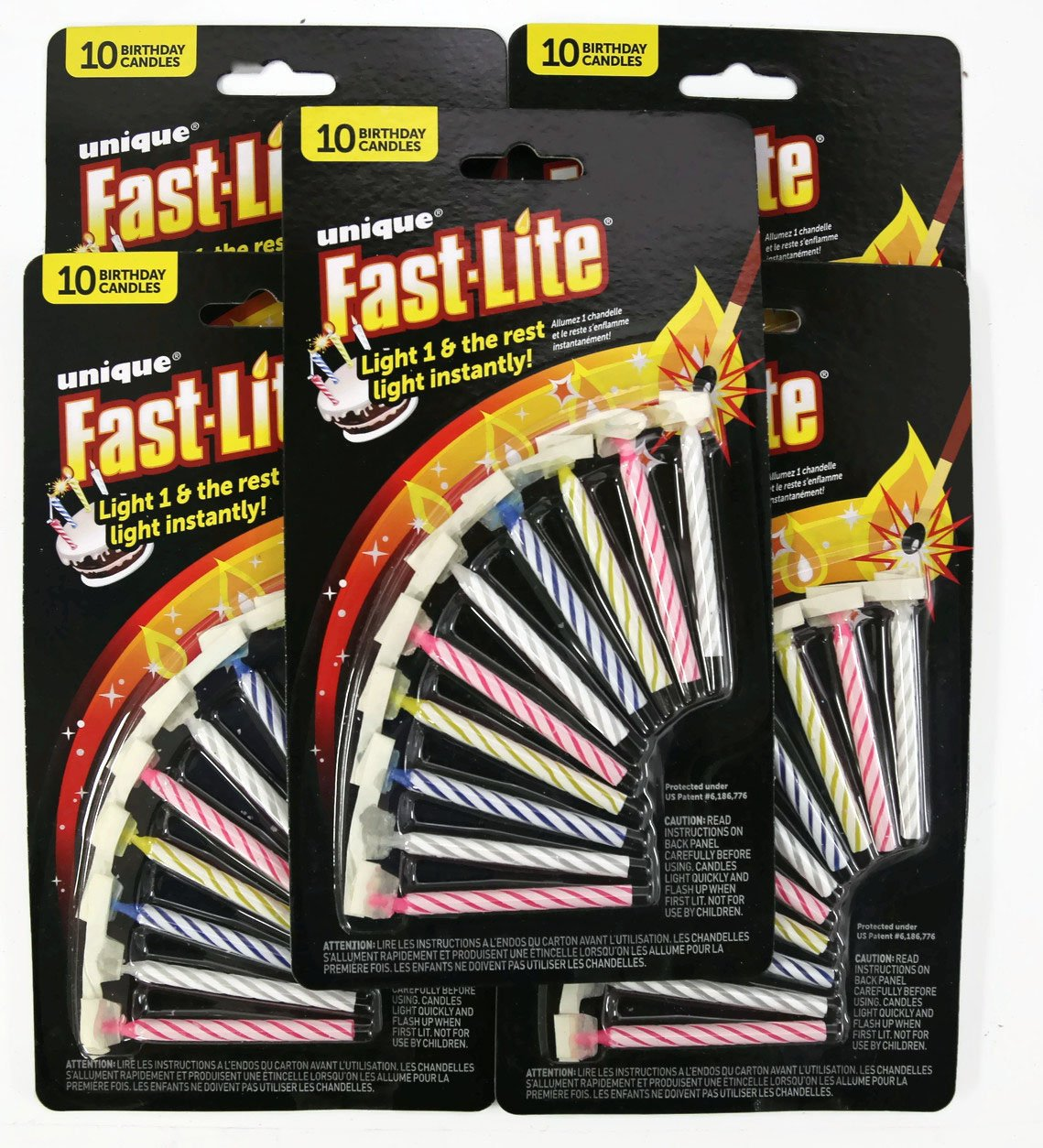 5 PK Fast Lite Birthday Candles, 50ct