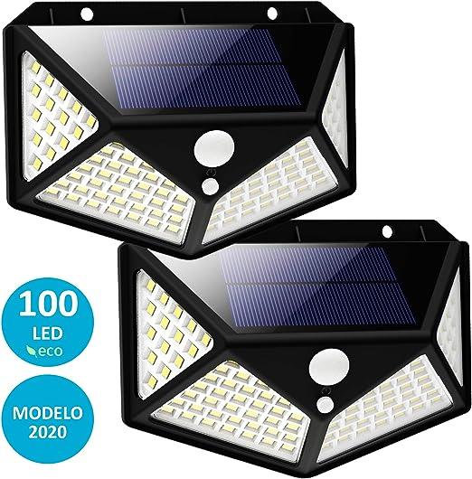 Luz Solar Exterior LED, FLUXS, Foco Solar Exterior con Sensor de ...
