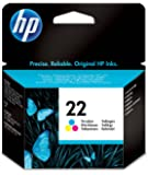 HP 22 - Cartucho de tinta Original HP 22 Tricolor para HP DeskJet 2130, 3630 HP OfficeJet 3830, 4650 HP ENVY 4520